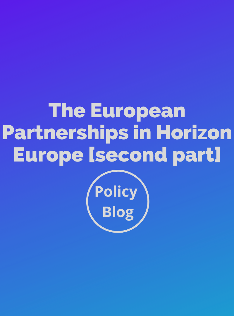 Policy Blog: The European Partnerships in Horizon Europe [second part]