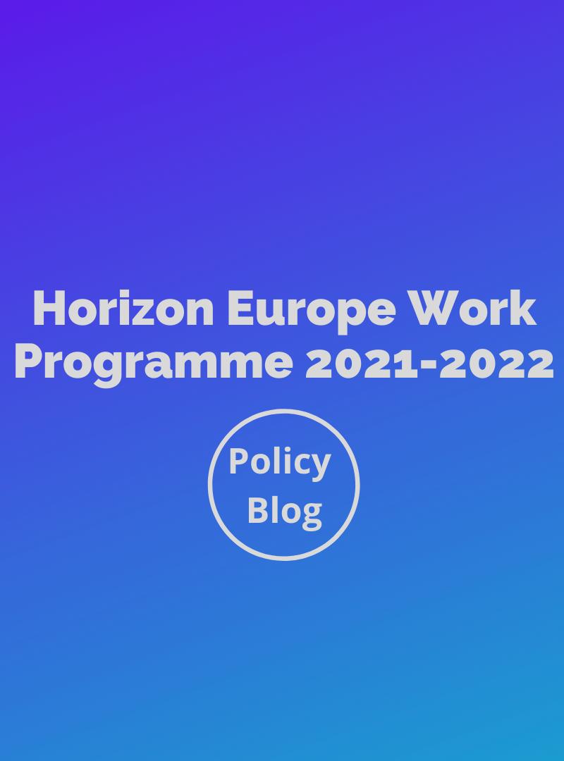 EARSC Policy Blog: Horizon Europe Work Programme 2021-2022
