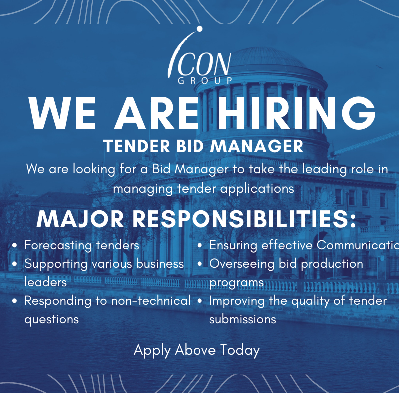 The Icon Group Job Offer: Tender Bid Manager Position