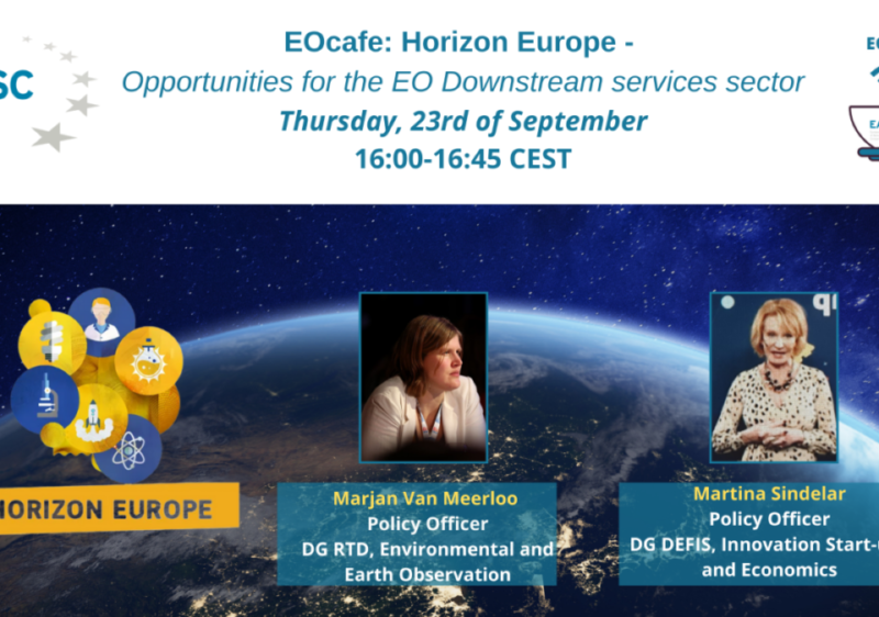 EOcafe: Horizon Europe – Opportunities for the EO Downstream services sector