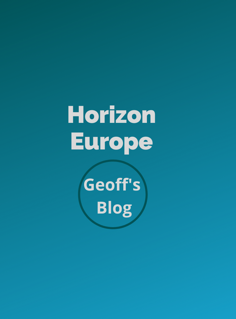 Geoff's Blog: Horizon Europe – Opportunities for the EO downstream services sector